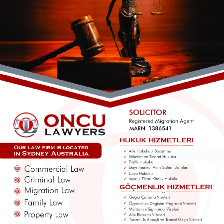 Oncu Lawyers Newspaper Advertisement